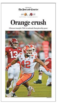 2018 NCAA Clemson Championship_3_Wilkins_REV Football Run, Clemson Football, Football Memes, Clemson Tigers, College Football, Football Season, Tiger Love, We Are The Champions, University Of South Carolina