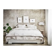 ASKVOLL Sängynrunko - 140x200 cm, Lönset - IKEA