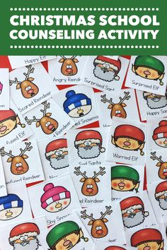 This Christmas activity is a fun elementary school counseling classroom guidance lesson or small group activity! Students practice working in groups effectively and discussing feelings and emotions. Great holiday activity for school counseling! -Counselor Keri