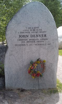 John Denver sanctuary in Aspen, CO ...it saddens me that we will never get to enjoy all the music he still had to give.