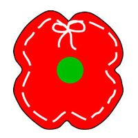 A poppy field for remembrance day class project - Remembrance day craft ideas ...