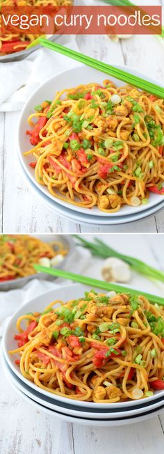 Vegan Curry Noodles! I've already made this one three times this week, so addicting and easy! | www.delishknowledge.com