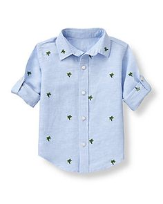 Embroidered Palm Shirt