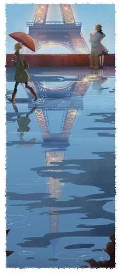 Brittney Lee is one of my favorite artists to follow. Here's her Paris Print (by britsketch on Etsy, $20.00)