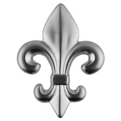 Fleur-de-Lis Satin Nickel Knob - New Orleans Knob - 2-1/2""