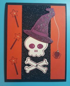 Howl-o-ween Treat Stampin' Up! Stamp Set (2015 Stampin' Up! Holiday Catalog)  Cardstock: Basic Black, Tangelo Twist, Rich Razzleberry, Very Vanilla Embossing Powder: Irridescent Ice Created by Amy D. Knight @ www.pawsitivelyinspired.stampinup.net.