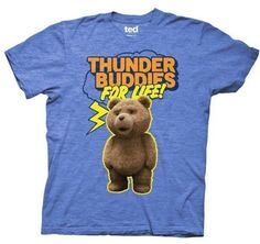 Ted T-shirt Movie Ted Thunder Buddies for Life Adult Royal Heather Tee, XL - http://www.scribd.com/doc/273408794/