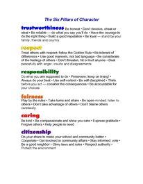 six pillars of self esteem pdf free