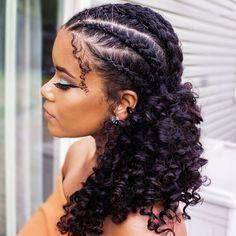 Natural Hair Cornrows Haarzöpfe 21 Easy Ways to Wear Natural Hair Braids Natural Braided Hairstyles, Natural Hair Braids, Natural Curls, Braids For Curly Hair, Cornrows Hair, Styling Natural Hair, Kanekalon Hair, Braids With Curls, Kinky Curly Hair