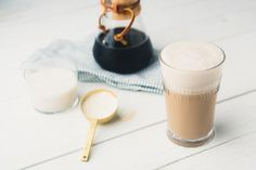 We all need a pick-me-up sometimes, and this recipe is a tasty and healthy way to bring down your number of yawns-per-minute. This perky frozen treat uses cold brew coffee, which is less acidic than traditional coffee, making it easier o. Pick Me Up, Home Recipes, Cold Brew, Calorie Diet, Brewing, Frozen, Tasty, Nutrition, Treats