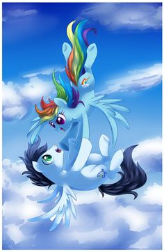Rainbow Dash and Soarin I'm pining this because of Soarins cutie mark.