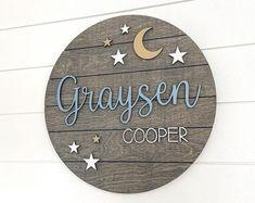 Moon Nursery, Star Nursery, Nursery Name, Nursery Signs, Nursery Ideas, Nursery Decor, Baby Name Signs, Baby Names, Astronaut Nursery