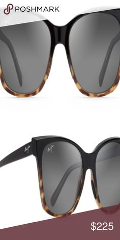 2b456bf50c MauiJim Alekona Black Polarized Plastic Sunglasses Brand  Maui Jim Model   Alekona Color  Black with Tokyo Tortoise Size   Gender  Unisex Made in  Italy Maui ...