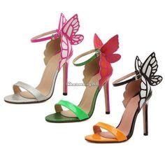 Mujer-Tacon-Alto-Tobillo-Mariposa-Correa-Zapatos-De-Tacon-Sandalias-Zapatillas