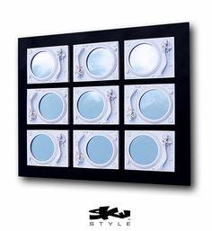 POLAR  Technics Turntable Mirror Sculpture  White & by SkuStyle