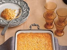 Corn pudding is a classic Southern side dish that makes an appearance at many Thanksgiving tables each year. This recipe, Tee's Corn Pudding, is one Corn Pudding Recipes, Corn Recipes, Side Dish Recipes, Casserole Recipes, Pudding Corn, Recipies, Corn Casserole, Southern Side Dishes, Southern Recipes