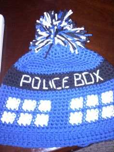 Doctor Who #Tardis #Crochet ...a Let The Wookie Knit creation is floating around Pinterest :-D