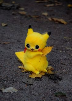 Credit: To it's respected owners. Pikachu Art, Cute Pikachu, Pikachu Drawing, Baby Animals Super Cute, Cute Little Animals, Cute Pokemon Wallpaper, Cute Cartoon Wallpapers, Cute Fantasy Creatures, Cute Creatures