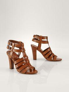 Leather Larianna Sandal - Lauren Pumps - RalphLauren.com