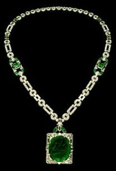 Known As 'The Mackay Necklace,' Shown Here Has Elegant Emerald's, Pleasing Platinum and Dynamic Diamonds, Crafted by Cartier in 1938.