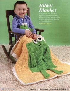 Couverture grenouille et ses grilles gratuites ! - Modèles pour Bébé au Crochet