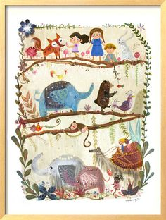 LARGE, Art for Children , Kids Wall Art, Baby Room Decor, Nursery print, Poster, 13 X 19 artprint , Illustration  , via Etsy.