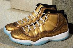 #GoldOut: Check Out The Bold Look On This Air Jordan 11 Ace Of Spades Customs http://SneakersCartel.com #sneakers #shoes #kicks #jordan #lebron #nba #nike #adidas #reebok #airjordan #sneakerhead #fashion #sneakerscartel