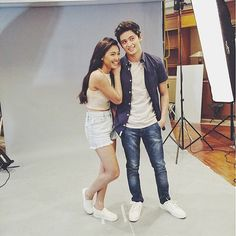All smiles together!!! We are such JADINE fans heehee. ✨ Here's a BTS photo of the cuties Nadine Lustre and James Reid in a fun photoshoot held recently. ❤️ CUSTOM CROPPED TOP BY #SHEIRALYN ✨ #hautelifestyle #celebritiesinsheiralyn #jadine #nadinelustre @nadzlustre | Styled by @joannagee  #repost © @sheiralyn
