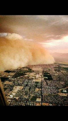 We don't get tornados or hurricanes but we get huge dust storms! ! This happened 7-3-14