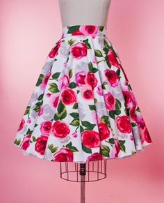Haute Circle Skirt - Ava Rose Red
