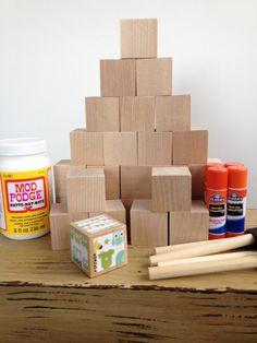 DIY Wood Baby Blocks // Baby Boy // Baby Shower Craft //