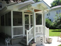 Darling little sunroom - perfect for breezy days. http://www.dilloncompany.com/