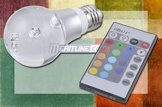 3W E27 RGB Multicolor LED Light Bulb With Remote