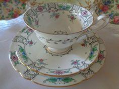 Shelley Trio - Floral Decoration, Gainsborough Shape Wonderful Condition
