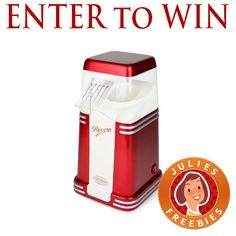 Giving away a Retro Popcorn Popper! This one is going to end on Sunday, July 27 2014 at 11:59pm CST @ www.facebook.com/juliesfreebies