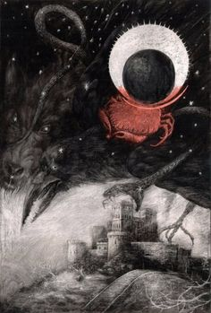 Surrealism and Visionary art: Santiago Caruso Arte Horror, Horror Art, Dark Matter, Art And Illustration, The Ancient Magus, Occult Art, Creatures Of The Night, Creepy Art, Visionary Art