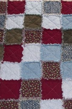Rag Quilt- Like the colors