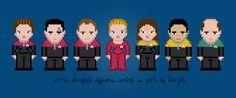 Star Trek: Voyager - PixelPower - Amazing Cross-Stitch Patterns http://www.pixelpowerdesign.com/shop/tv/product/show/419-star-trek-voyager