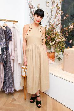 Athena Calderone wearing Ulla Johnson's Cecily dress
