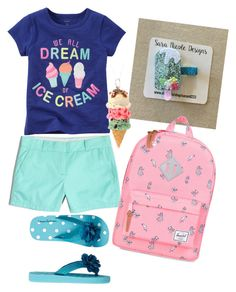 """Ice cream dreams!"" by saram0223 on Polyvore featuring J.Crew and Herschel"