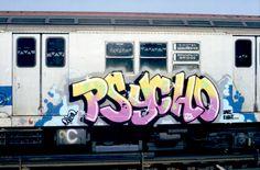 Psycho - Seen Graffiti History, Seen Graffiti, Graffiti Piece, New York Graffiti, Graffiti Wall Art, Graffiti Drawing, Murals Street Art, Graffiti Lettering, Street Art Graffiti