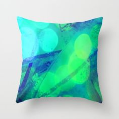 I love the colors on this pillow and it's from a close up photo of some stained glass with sparkly lights added to it. Coolness. Decorative Pillow Cover Throw Pillow Home by earthmothermosaics, $34.00