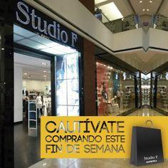 Cautívate comprando este fin de semana, Studio F tiene para ti nueva colección. Te esperamos.