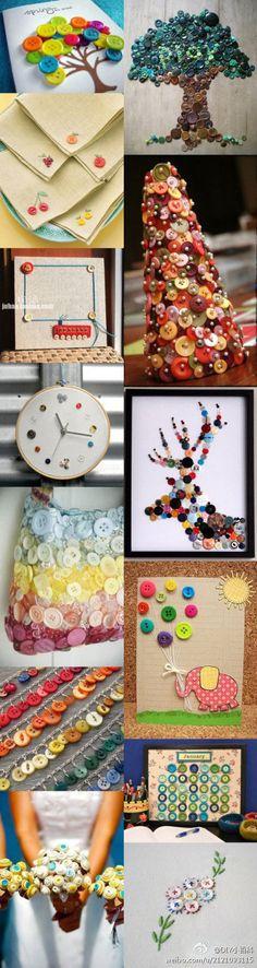 Buttons craft ideas