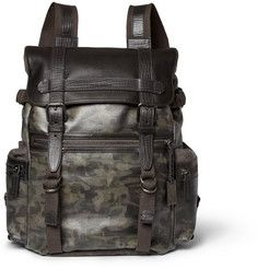 Dolce & GabbanaLeather and Canvas Backpack