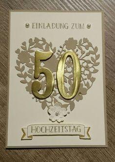 Corina´s Stempel- und Bastelwerkstatt: Einladungskarten zu goldenen Hochzeit