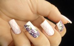 Weekly Mani: Hand Drawn Roses with Stamp
