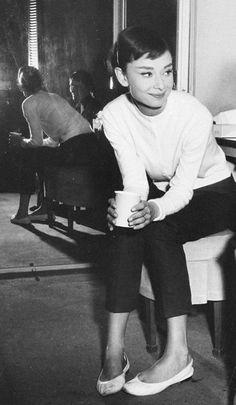 """wehadfacesthen: """" Audrey Hepburn, 1956 """""""