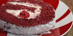 Roulades cu mure Red Velvet Cake Roll, Tiramisu, Frosting, Berries, Cheesecake, Rolls, Ethnic Recipes, Desserts, Food
