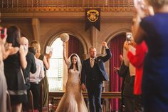 If a wedding is any reflection of a couple, newlyweds Cassie and Lewis Byrom have made it perfectly clear who they are–massive fans of Harry Potter. After